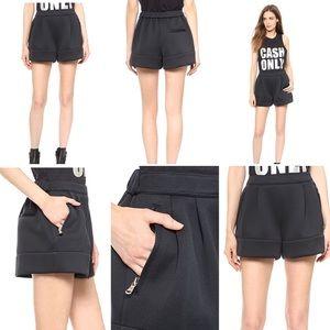 3.1 Phillip Lim Black Neoprene Shorts
